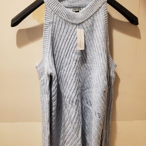 New york and co cold shoulder sweater